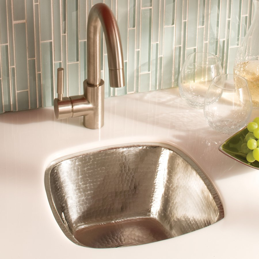 """Native Trails 11"""" Rincon Square Undermount Bar Sink - Brushed Nickel CPS547"""