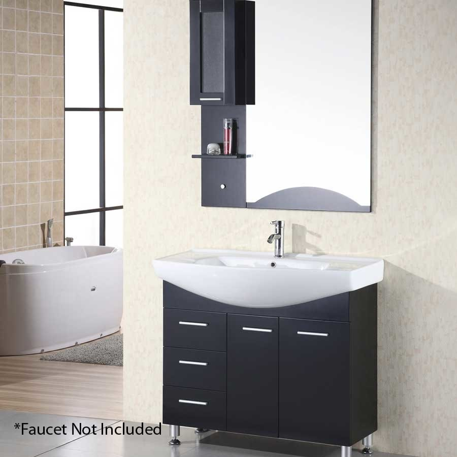 Design Element 40 Sierra Single Sink Bathroom Vanity Espresso