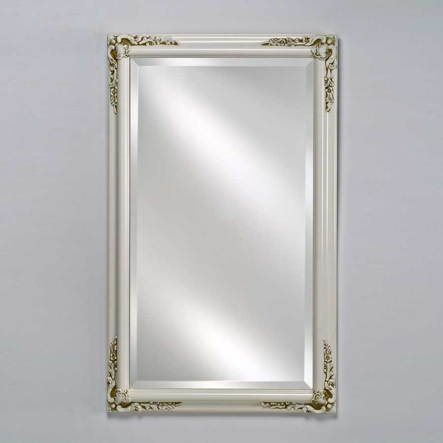 "Afina Estate 16"" Mirror - Antique White EC13-1622-WT"