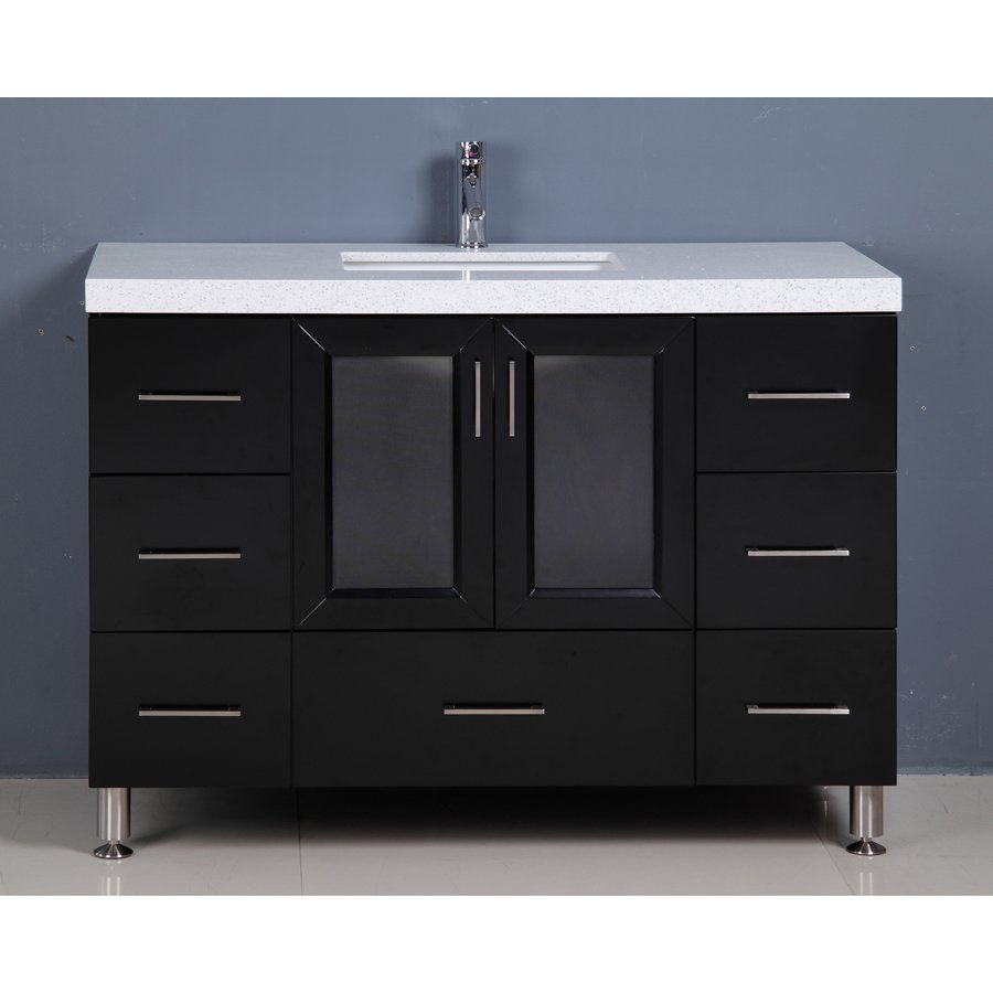 design element bathroom vanities design element 48 quot westfield single sink vanity espresso 17236