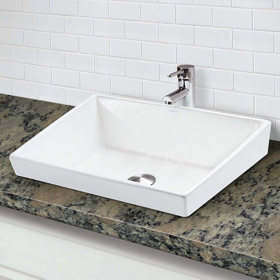 decolav brier 19 x 15 7 10 above counter bathroom sink 1489 cwh j keats. Black Bedroom Furniture Sets. Home Design Ideas