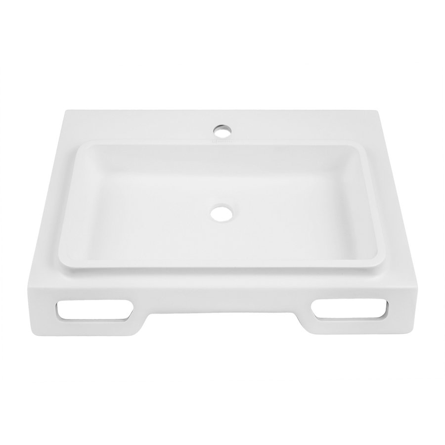 "DECOLAV Nasira 18"" x 25"" Wall Mount Bathroom Sink - White 1834-SSA"