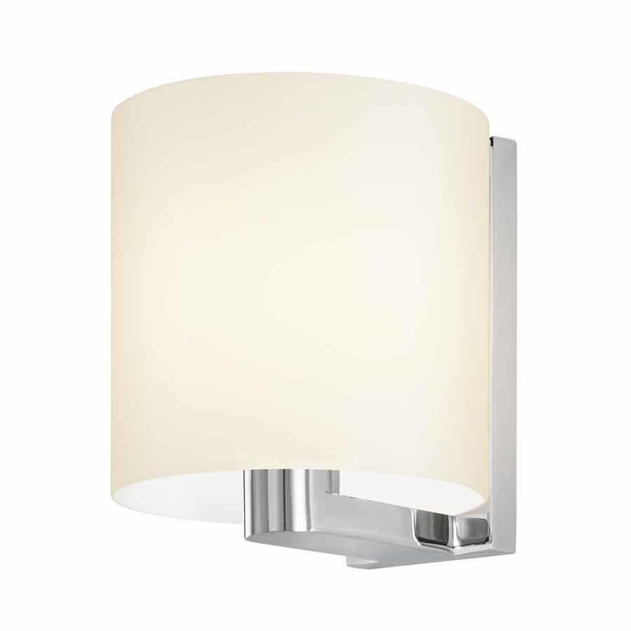 Sonneman Delano 1 Light Bathroom Sconce - Polished Chrome/White 3690.01W