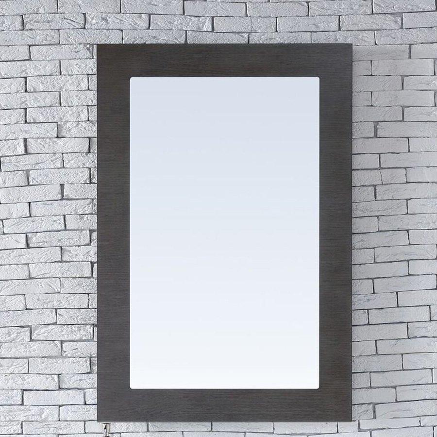 """James Martin 30"""" x 42"""" Metropolitan Wall Mount Mirror - Silver Oak 850-M30-SOK"""