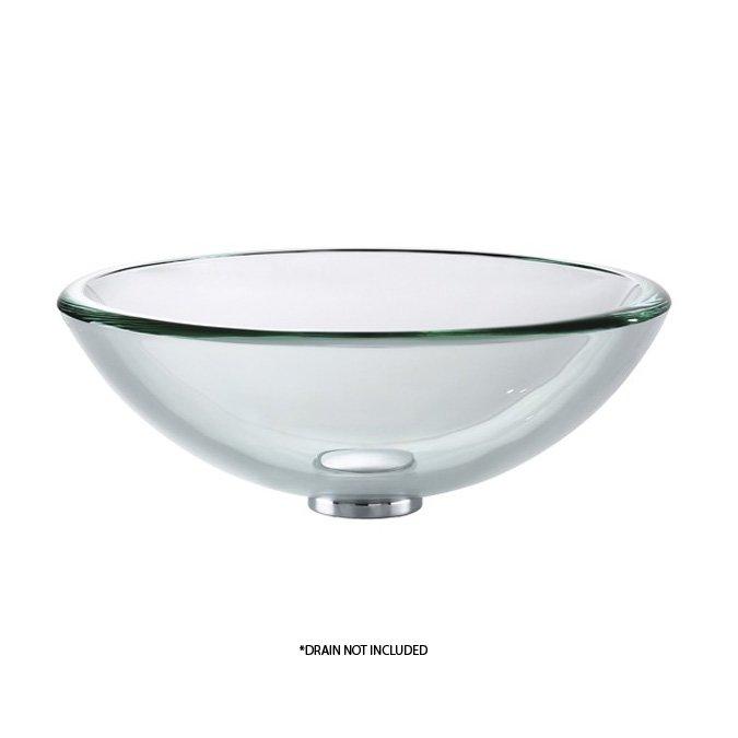 "Kraus 17"" Clear Vessel Sink - Clear GV-101-19mm"