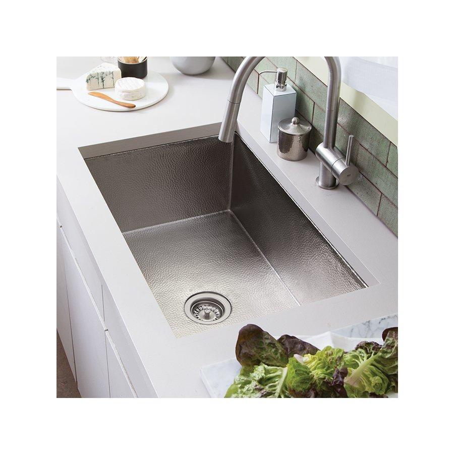 """Native Trails 33"""" x 22"""" Cocina Undermount Kitchen Sink - Brushed Nickel CPK572"""