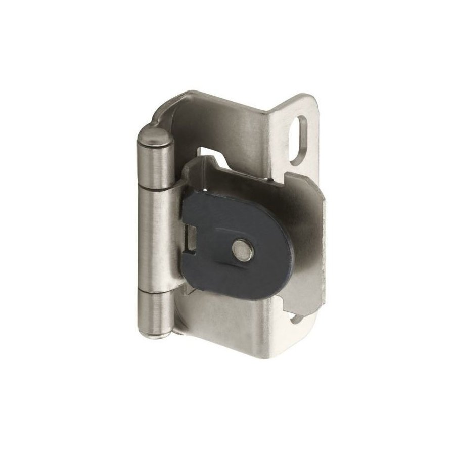 Amerock Single Demountable 1/2 inch Overlay Hinge Satin Nickel-Pair CMR8719G10