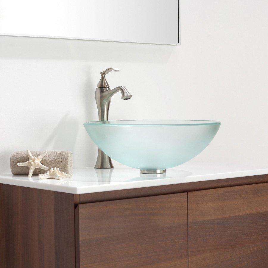 Kraus Ventus Vessel Bathroom Faucet - Brushed Nickel KEF-15000BN