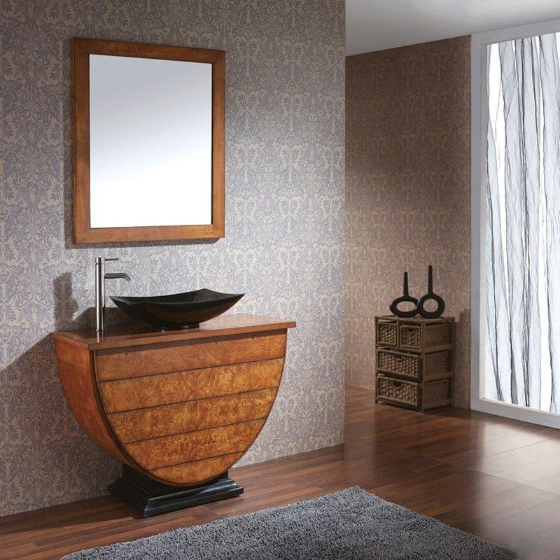 "Avanity 20"" x 15-3/4"" Rectangular Vessel Bathroom Sink - Gray Marble SVE510GR"