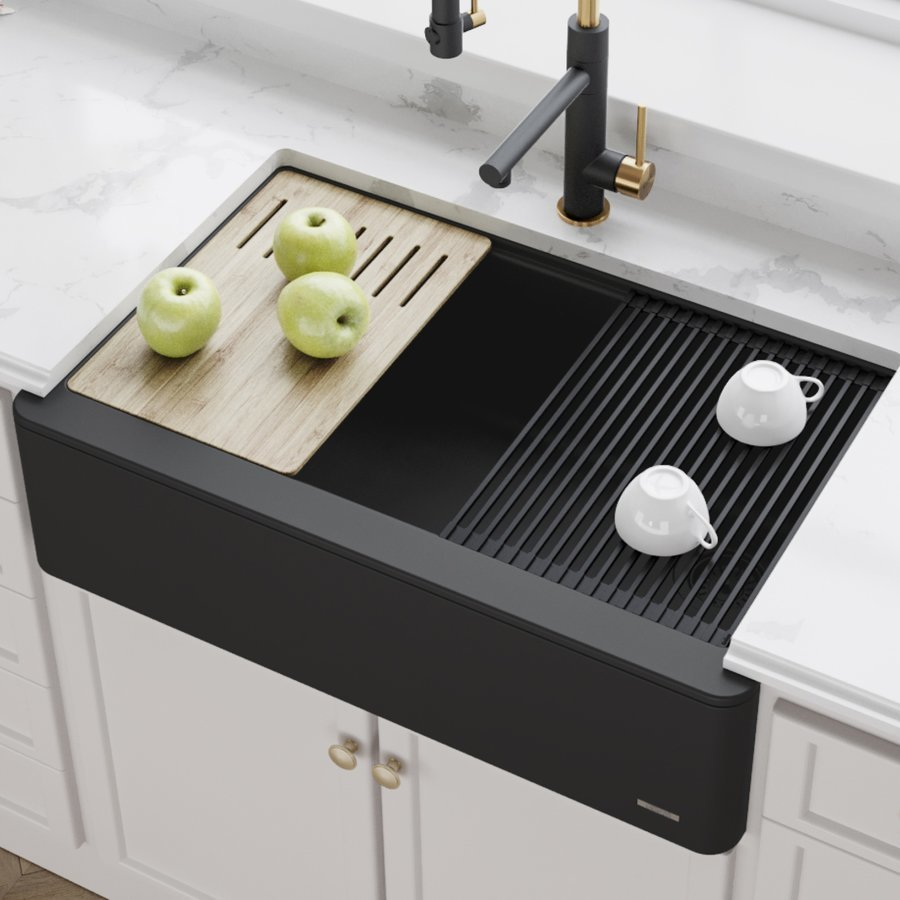 Undermount Kitchen Sinks Single Black