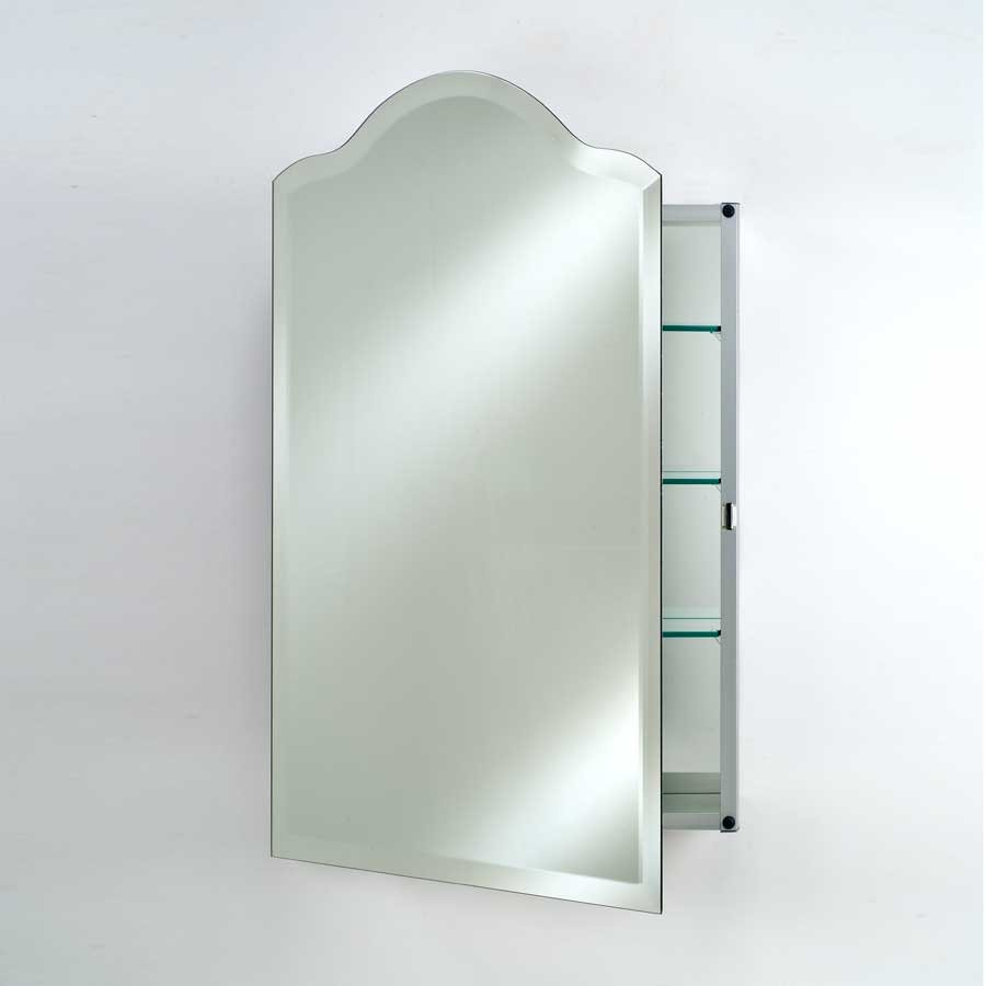 "Afina 20"" Scallop Top Wall Mount Mirrored Medicine Cabinet-Beveled SD-2026-SCA-BV"