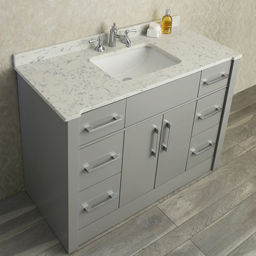 "Ariel Bath 48"" Seacliff Radcliff Single Sink Vanity - Taupe Gray SC-RAD-48-STG"