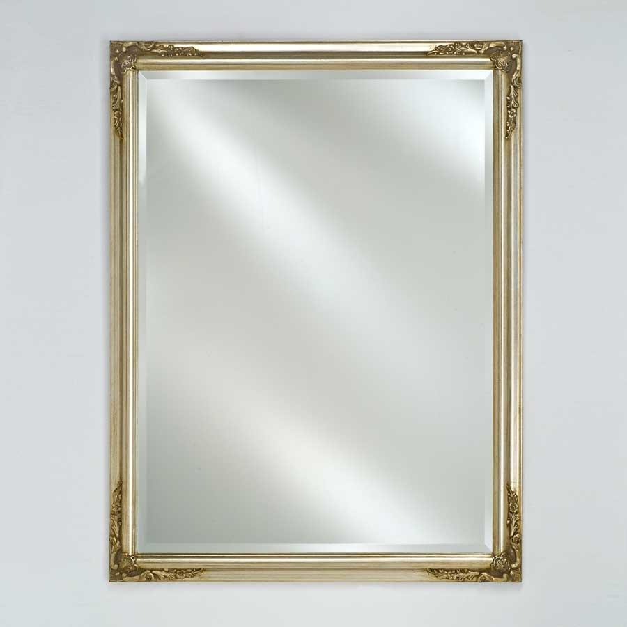 "Afina Estate 16"" Mirror - Antique Silver EC13-1626-SV"
