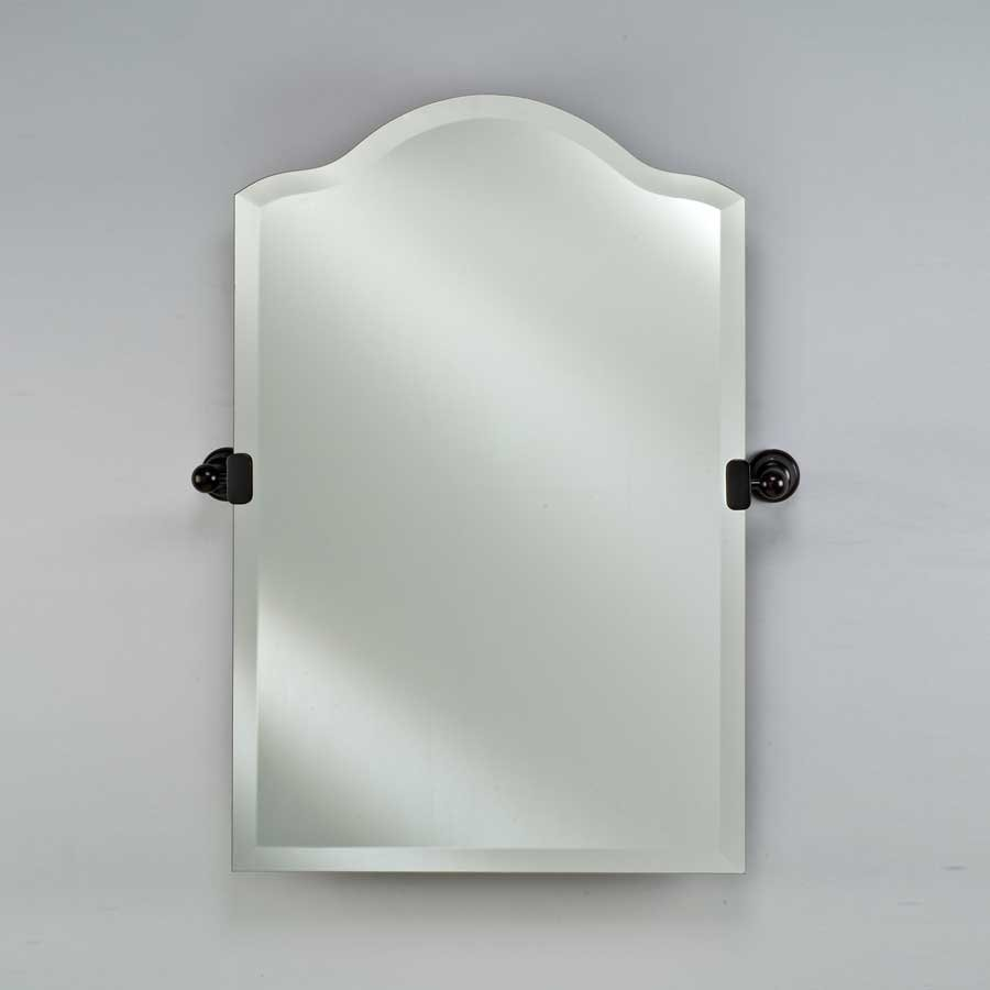 "Afina Radiance Tilt Traditional 24"" Scallop Mirror- Oil Rub Bronze RM-735-OB-T"