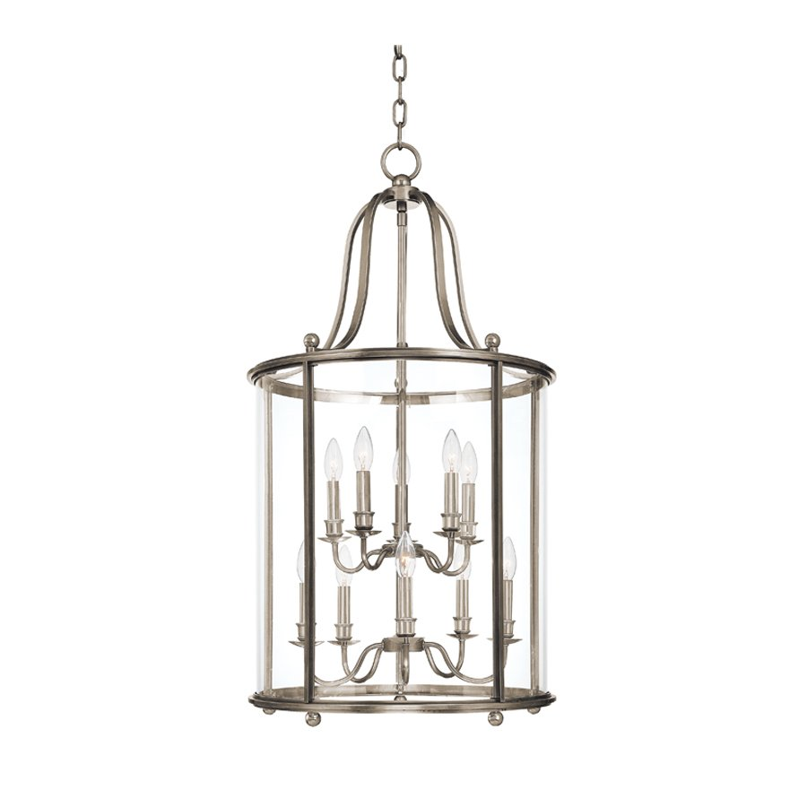 Hudson Valley Mansfield 10 Light Island Pendant - Polished Nickel 1320-PN