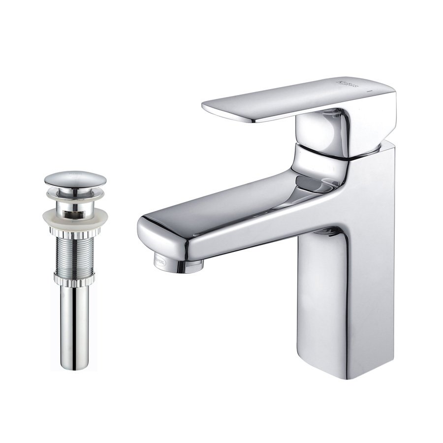 Kraus Virtus Single Hole Bathroom Faucet - Chrome KEF-15501-PU11CH