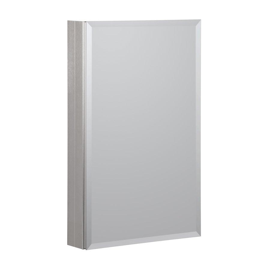 "Foremost 19"" x 30"" Aluminum Medicine Cabinet - Brushed Nickel MMC1930-BN"