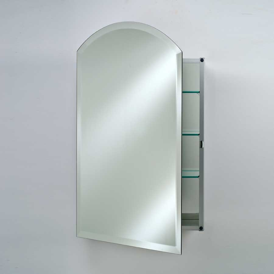 "Afina 16"" Arch Top Wall Mount Mirrored Medicine Cabinet - Beveled SD-1622-ARC-BV"
