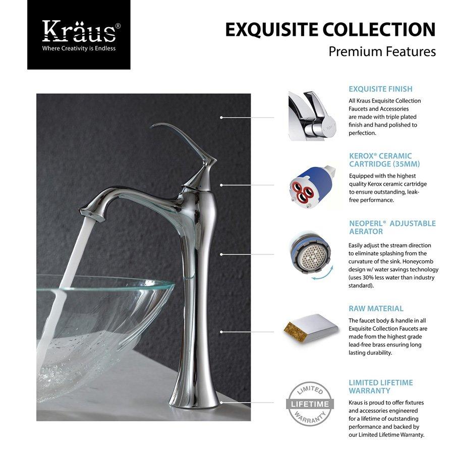 Kraus Ventus Vessel Bathroom Faucet - Chrome KEF-15000-PU-10CH