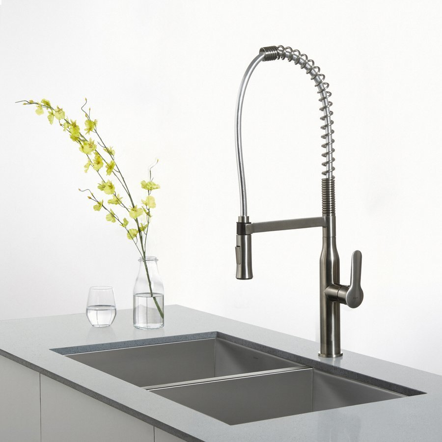 Kraus Nola Commercial Style One Handle Kitchen Faucet-Stainless KPF-1650SS