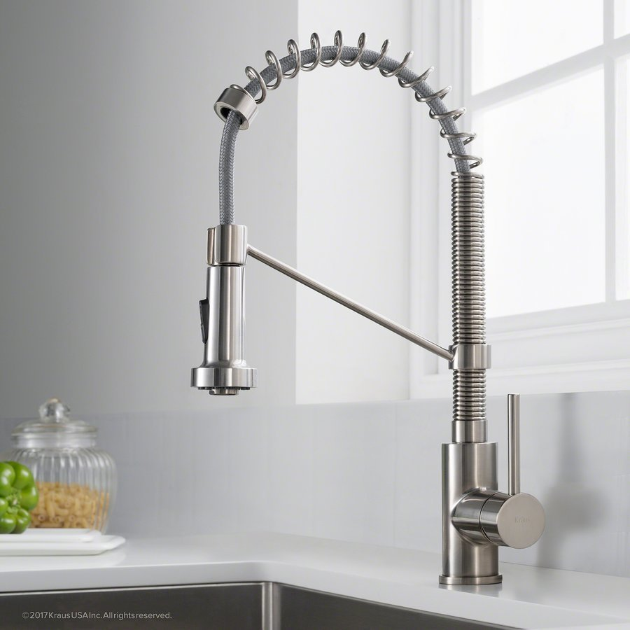 Kraus Bolden One Handle Pull-Out Kitchen Faucet-Stainless Steel KPF-1610SS