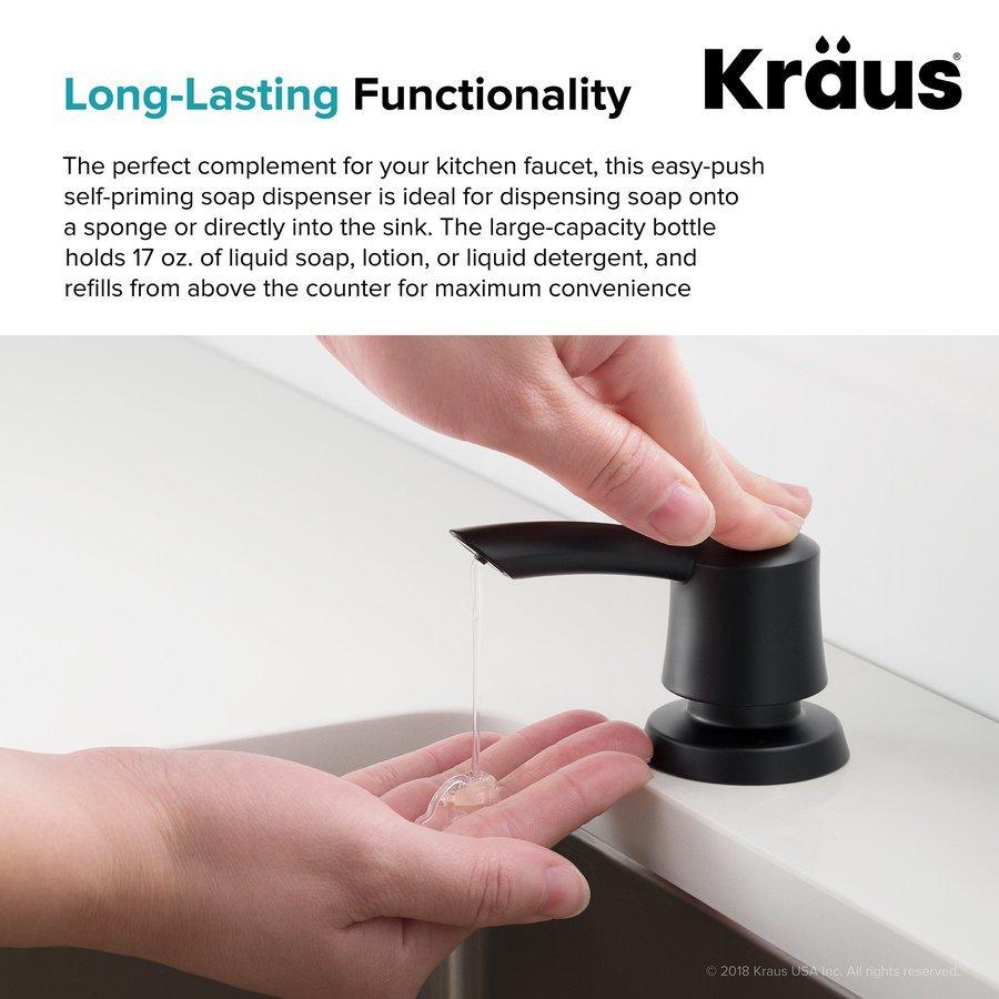 Kraus 17 oz. Matte Black Soap Dispenser KSD-51MB