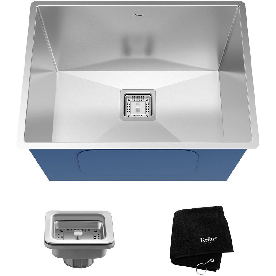 Kraus Pax 24 Undermount Single Bowl Utility Sink Stainless Steel