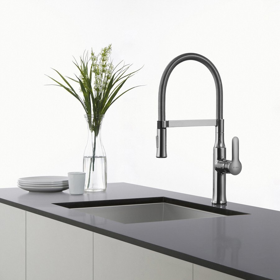 Kraus Nola Commercial Style One Handle Kitchen Faucet-Chrome KPF-1640CH