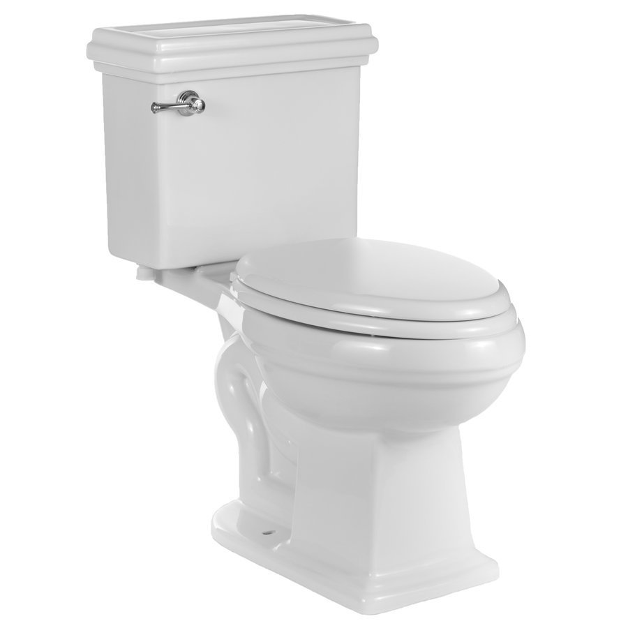 Miseno 2 Piece High Efficiency Toilet with Chair Height Bowl & Slow-Close Seat - White MNO240C