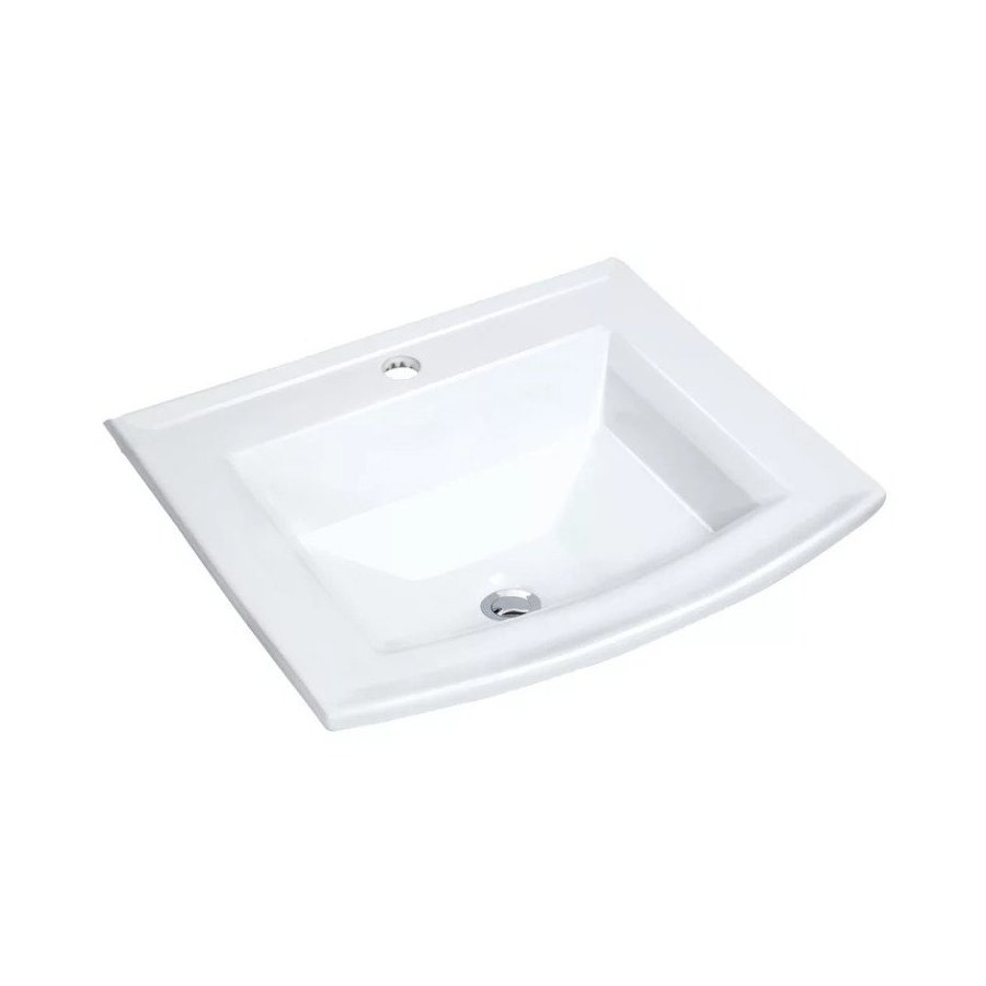 """Miseno 22-5/8"""" Drop In Bathroom Sink with 1 Hole Drilled and Overflow - White MMLD23201W"""