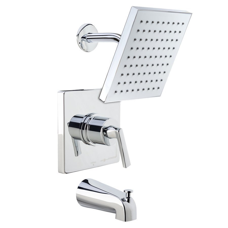 Miseno Elysa Tub and Shower Trim Package Single Function Rain Shower - Polished Chrome MTS650625SCP
