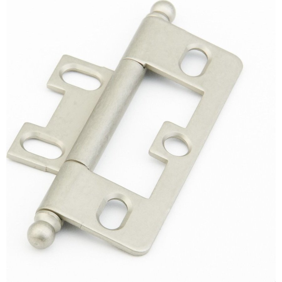 Schaub and Company Non-Mortise Hinge with Ball Tips - Distressed Nickel 1100B-DN