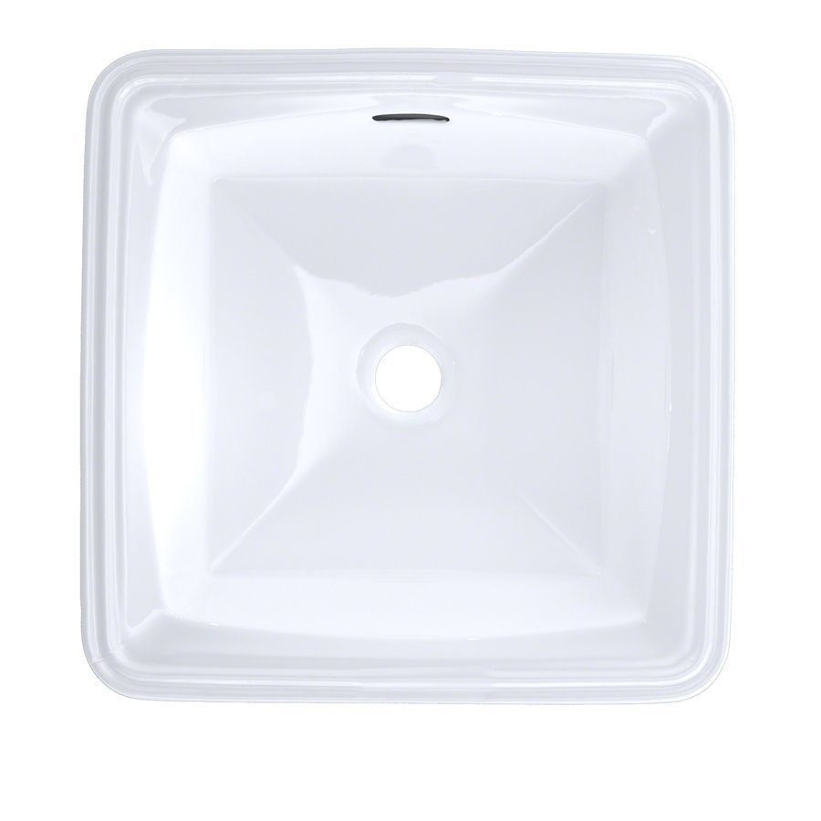 TOTO Connelly Square Undermount Bathroom Sink With Cefiontect - Cotton White LT491G#01
