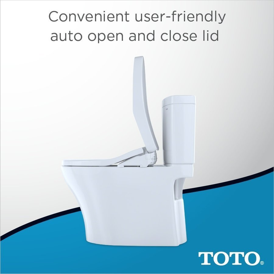 TOTO WASHLET S550e Electronic Bidet Toilet Seat with EWATER+ and Auto Open and Close Classic Lid, Elongated, Cotton White SW3054#01