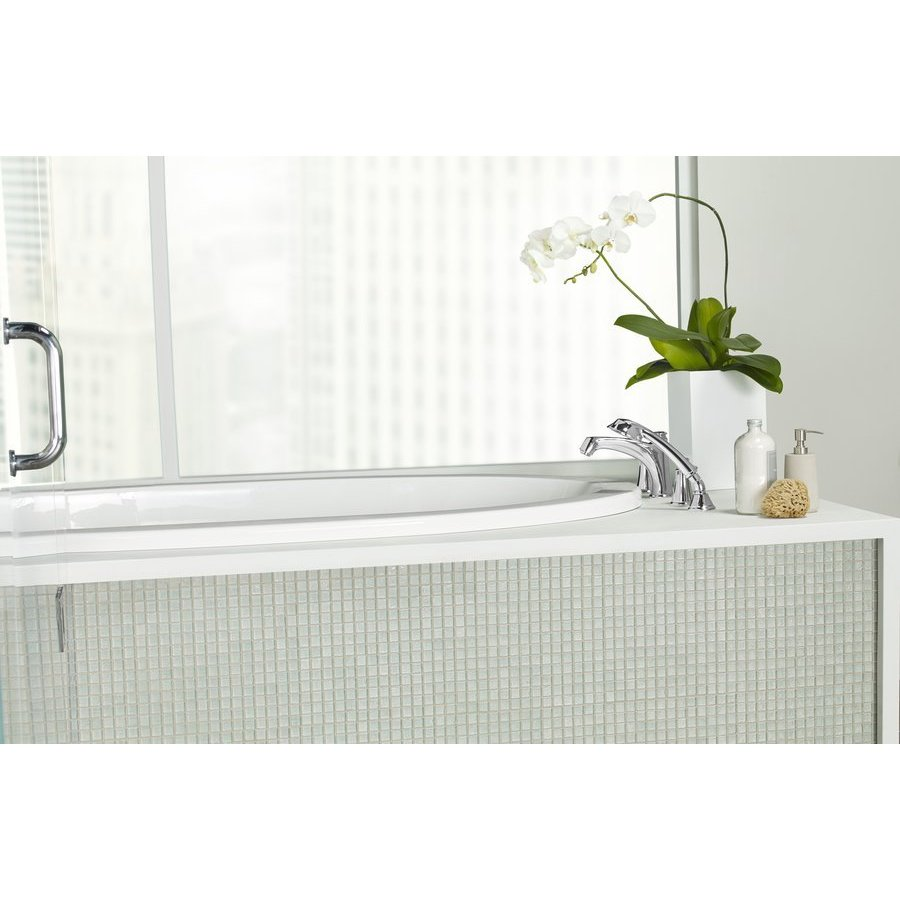 TOTO Keane Two Handle Deck-Mount Roman Tub Filler Trim With Hand Shower - Polished Nickel TB211S#PN