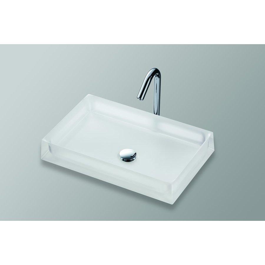 TOTO Luminist Rectangular Vessel Bathroom Sink - Frosted White LLT151#61