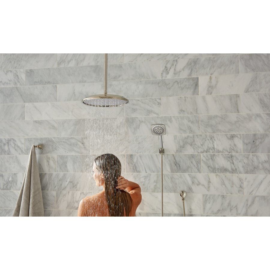 TOTO Classic Series Aero Rain Shower 12 Inch 2.0 GPM Showerhead - Brushed Nickel TS112BL12#BN