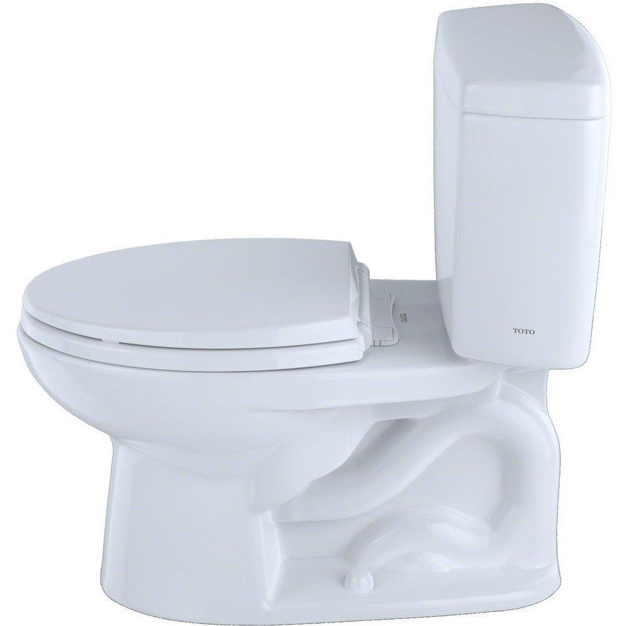 TOTO Drake Two-Piece Elongated 1.6 GPF ADA Compliant Toilet - Cotton White CST744SL#01