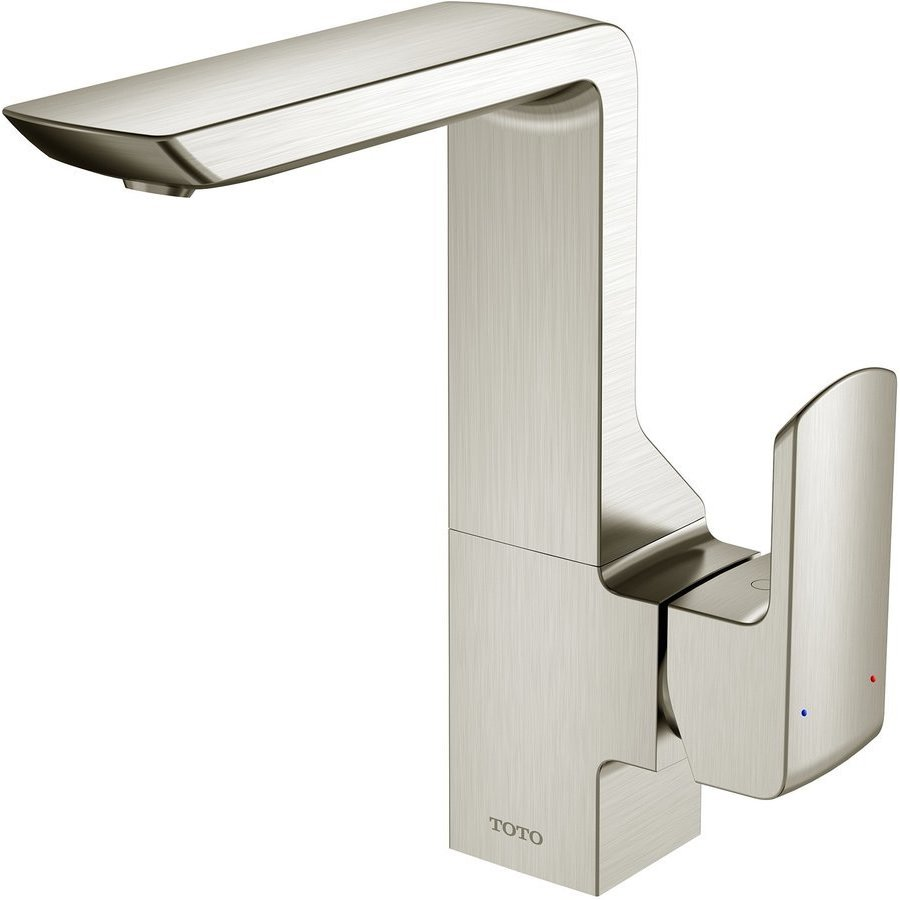 TOTO GR 1.2 GPM Single Side Handle Bathroom Sink Faucet with COMFORT GLIDE Technology, Brushed Nickel TLG02309U#BN