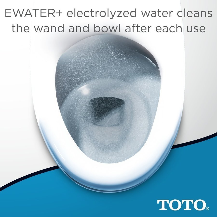 TOTO WASHLET S500e Electronic Bidet Toilet Seat with EWATER+ and Contemporary Lid, Elongated, Cotton White SW3046#01