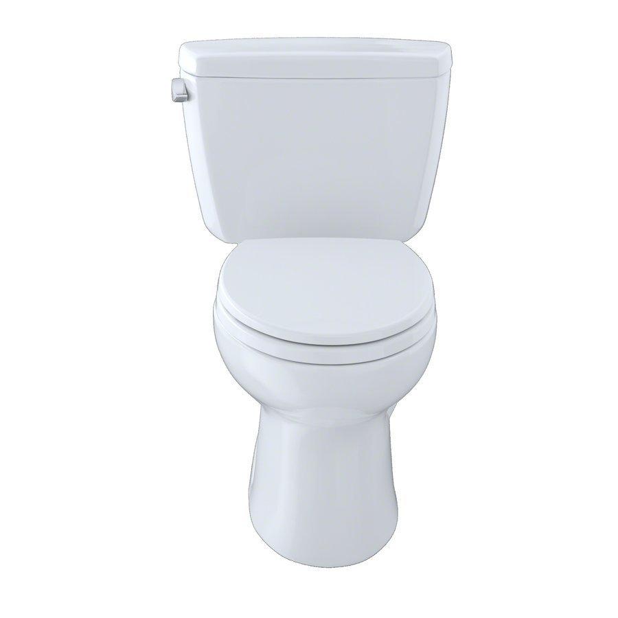 TOTO Drake Two-Piece Elongated 1.6 GPF Toilet - Cotton White CST744S#01