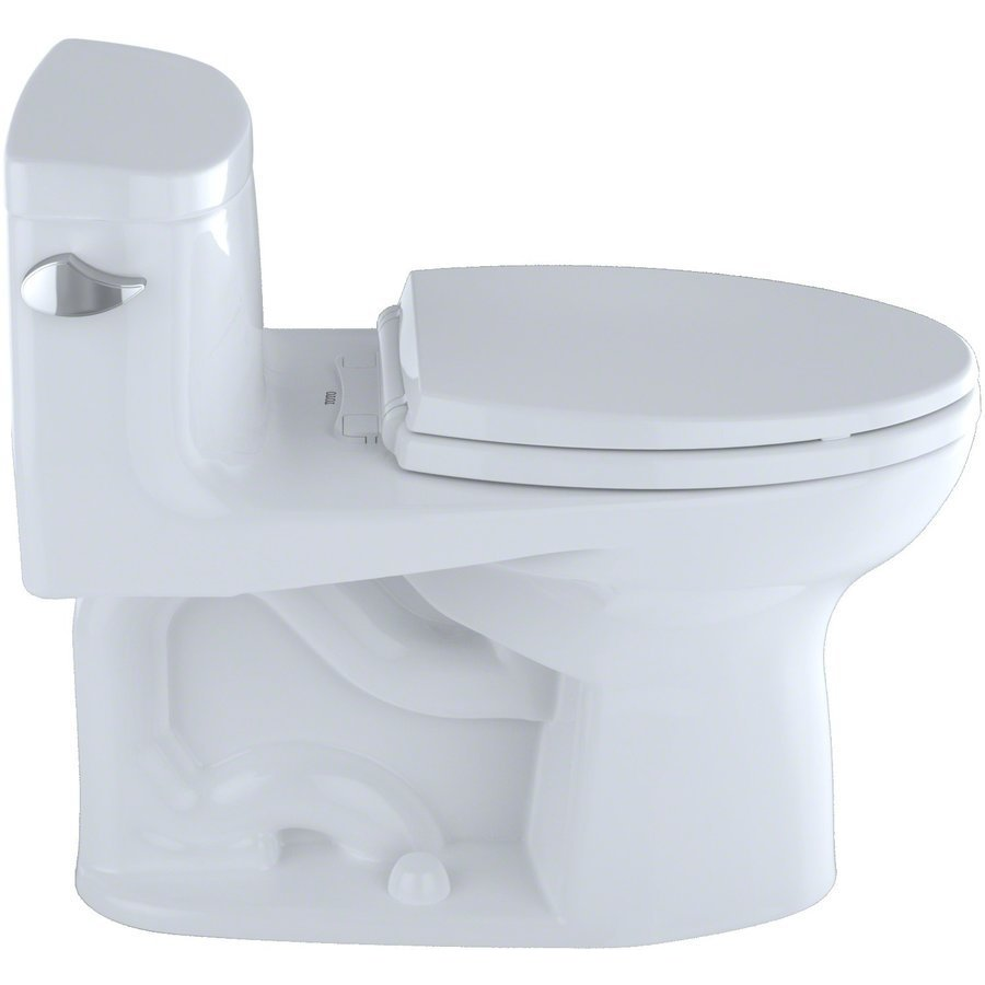 TOTO Supreme II One-Piece Elongated 1.28 GPF Universal Height Toilet with CeFiONtect, Bone MS634114CEFG#03