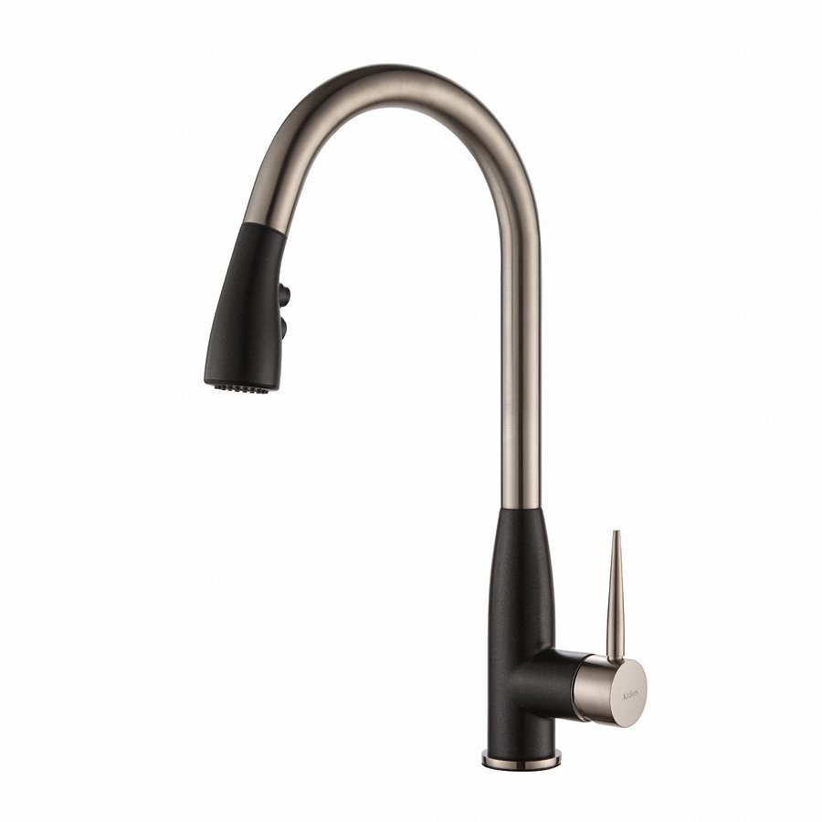 Kraus Geo Arch One Handle Pull-Out Kitchen Faucet & Soap Dispense KPF-1702-KSD-42SS