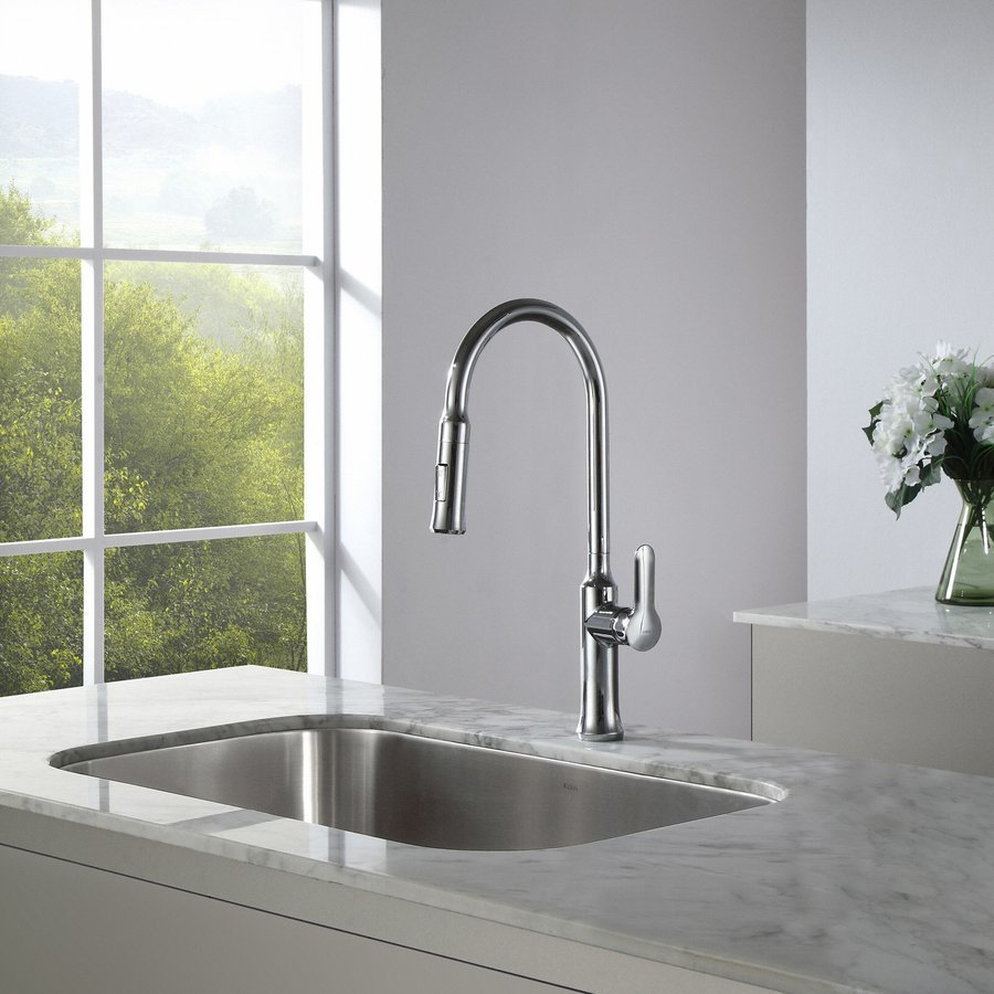 Kraus Nola One Handle Pull-Out Kitchen Faucet-Chrome KPF-1630CH