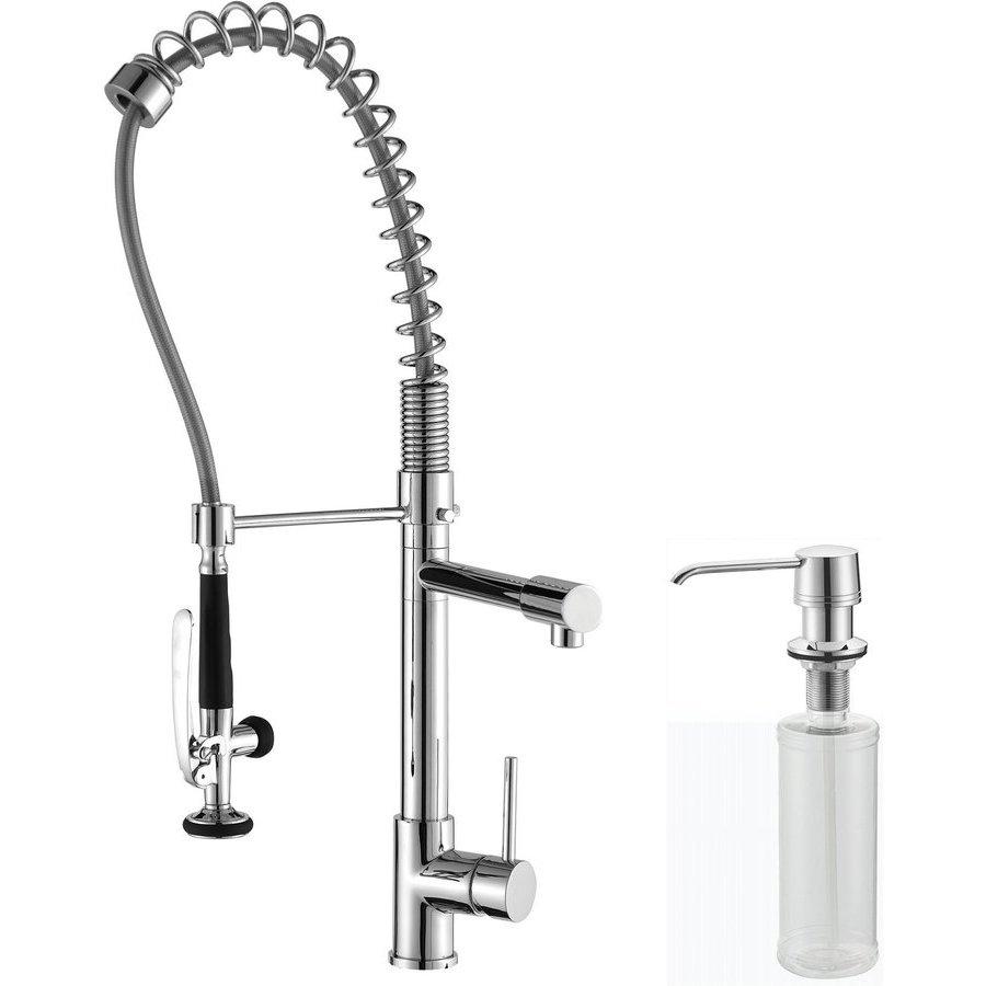 Kraus Comnmercial One Handle Kitchen Faucet & Soap Dispenser Chrom KPF-1602-KSD-30CH