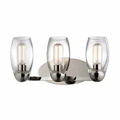 Pamelia 3 Light Bathroom Vanity Light - Polished Nickel