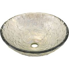"15"" x 4-1/2"" Vessel Bathroom Sink - Crystal Reflections"