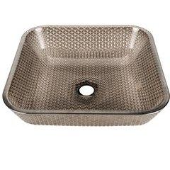 15.75 x 15.75 Inch Cubix Vessel Bathroom Sink - Platinum