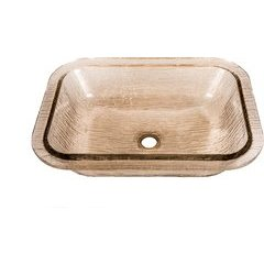 19 3/4 x 16 3/8 Inch Bathroom Undermount Sink with overflow - Fawn