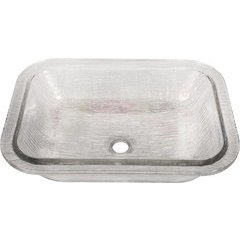 19 3/4 x 16 3/8 Inch Bathroom Undermount Sink with overflow- Crystal Reflections